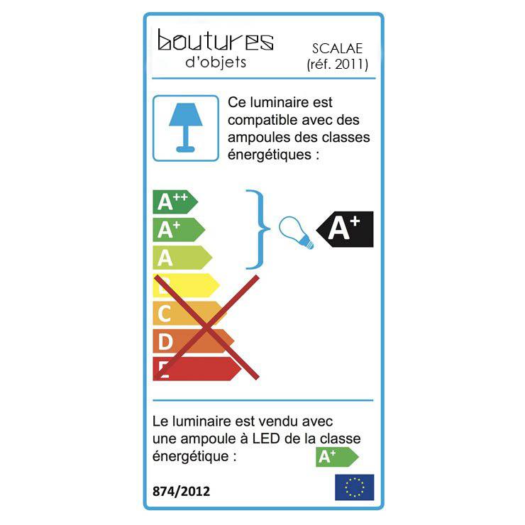 étiquette énergie boutures d'objets