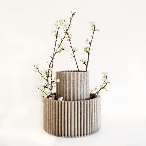 Vase coquille d'huitres recyclées