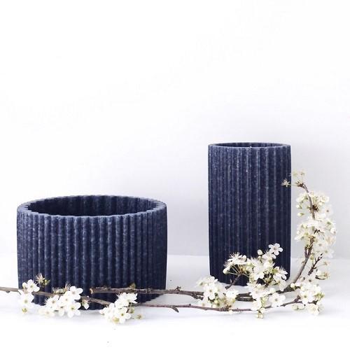 Double vase recyclé