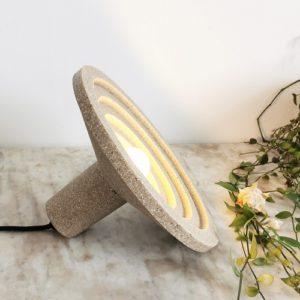 lampe eco design coquillage