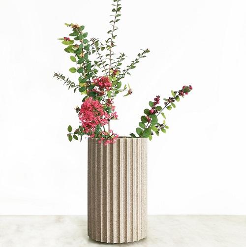 vase fleurs surcyclage