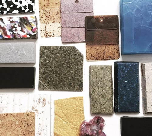 Echantillons matériaux recyclés