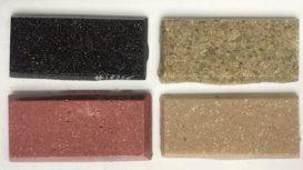 Echantillons wasterial upcycling écomatériau